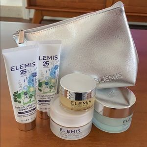 NWT Elemis face body skin gift set with makeup bag